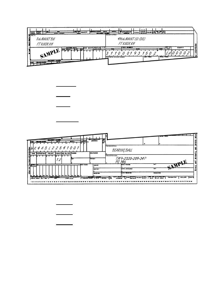 Figure 2-8. Sample DA Form 2765-1 (top portion). - Basic Supply ...