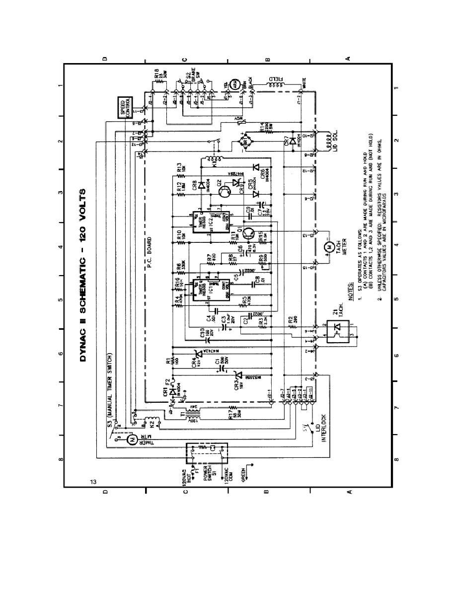 figure 2-1  dynac ii schematic--120 volts