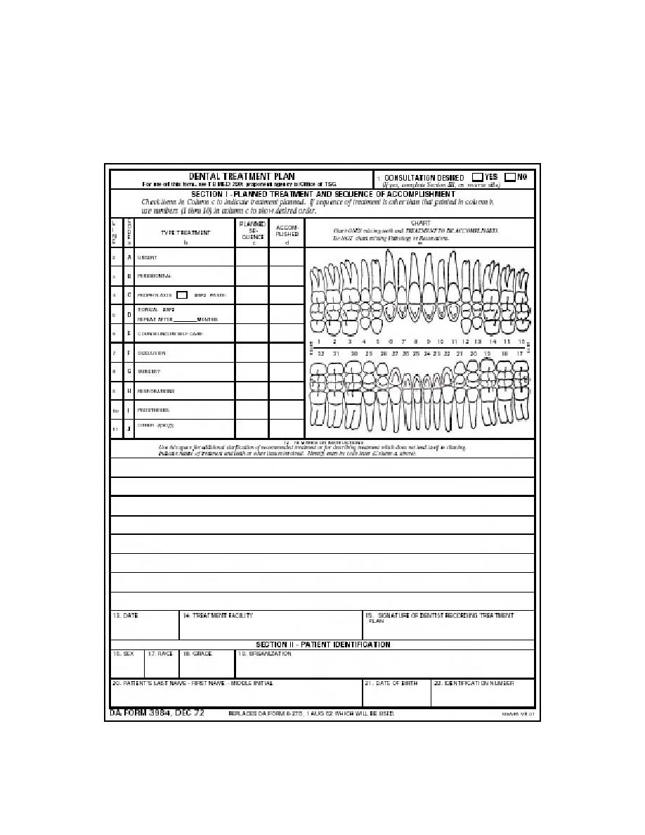 dental treatment plan worksheet