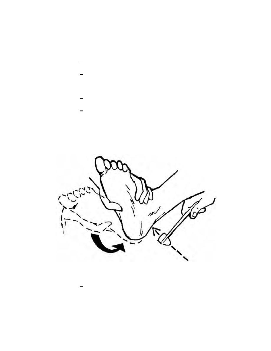 Figure 2-13. Achilles reflex (ankle jerk).